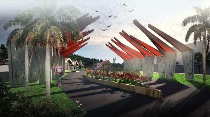 Desain Gate - Kawasan Taman Rusa Sekupang
