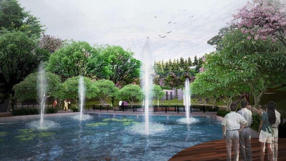 Desain Kolam Ikan dan Stonehenge - Kawasan Taman Rusa Sekupang