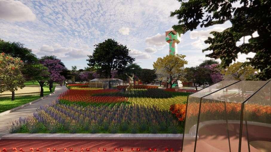 Taman Bunga - Kawasan Taman Rusa Sekupang